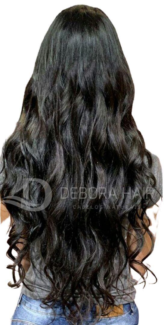 Cabelo Natural Leve Ondulado Castanho de 40 cm  - DEBORA HAIR