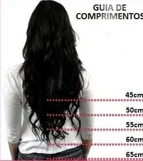 Cabelo Natural Leve Ondulado Castanho de 45 cm  - DEBORA HAIR