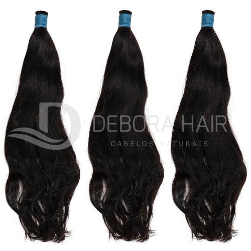 Cabelo Natural Leve Ondulado Castanho de 50 cm  - DEBORA HAIR