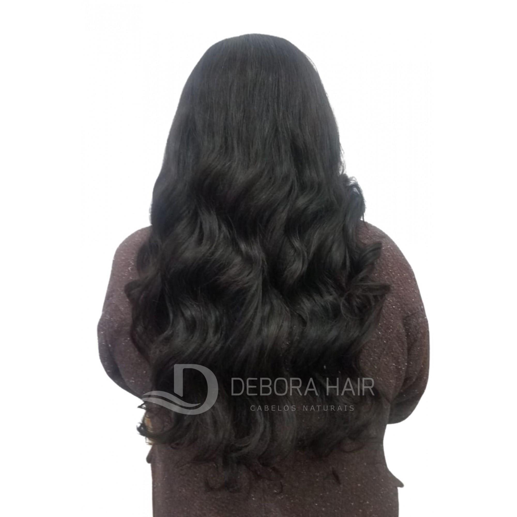 Cabelo Natural Leve Ondulado Castanho de 70 cm  - DEBORA HAIR