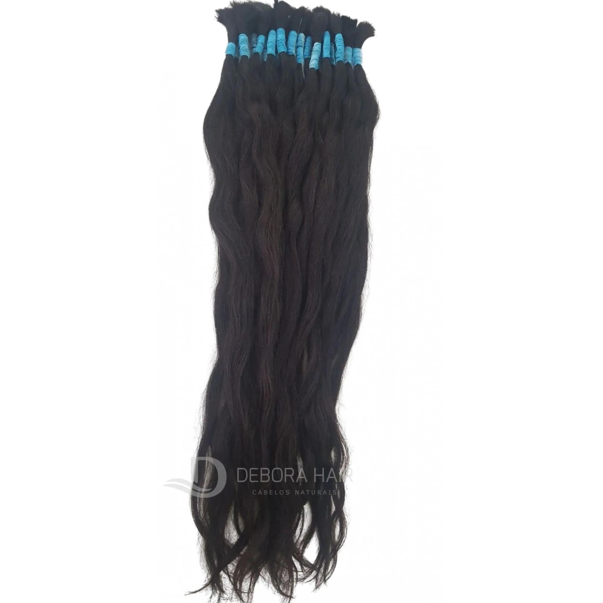 Cabelo Natural Leve Ondulado Castanho de 75 cm  - DEBORA HAIR
