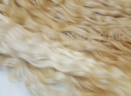 Cabelo Natural Leve Ondulado Loiro de 60 cm  - DEBORA HAIR