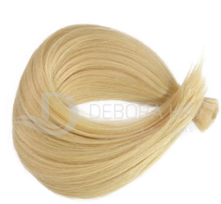 Cabelo Natural Liso Loiro Clarissimo (411) Russo de 55 cm  - DEBORA HAIR