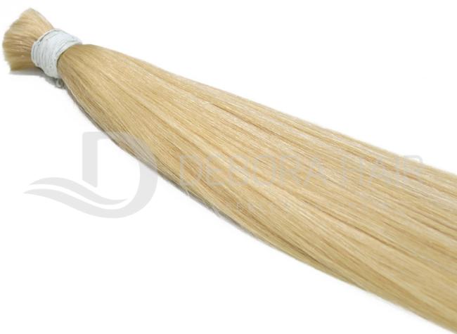 Cabelo Natural Liso Loiro Clarissimo (411) Russo de 60 cm  - DEBORA HAIR