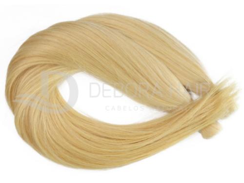 Cabelo Natural Liso Loiro Claro Dourado Russo de 65 cm  - DEBORA HAIR