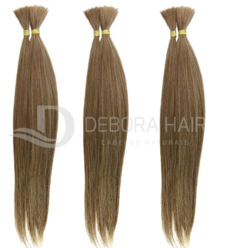 Cabelo Natural Liso Loiro Mesclado (1305) de 65 cm  - DEBORA HAIR