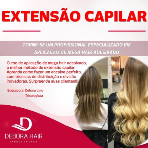 Curso Aplicação de Mega Hair de Fita Adesiva - Presencial  - DEBORA HAIR