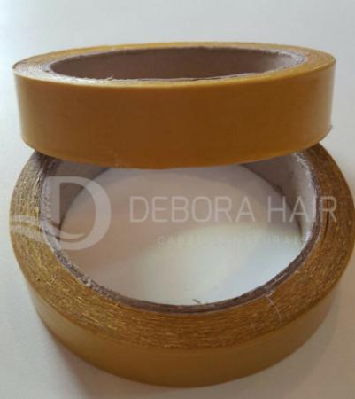 Fita Adesiva Dupla Face Incolor Amarela 10 metros - 2 cm