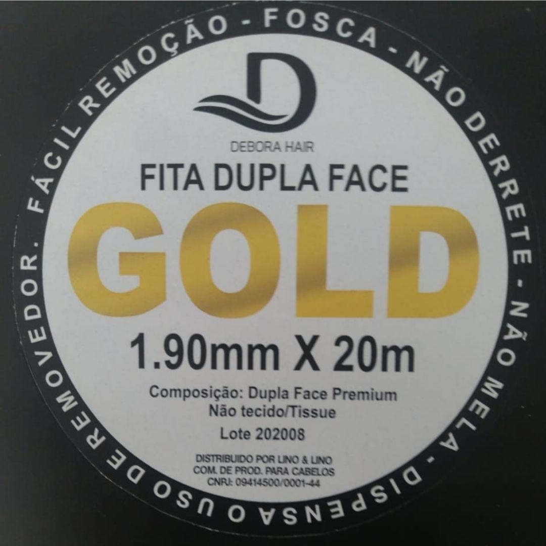 Fita Adesiva Dupla Face Incolor Amarela 20 metros - 2,5 cm