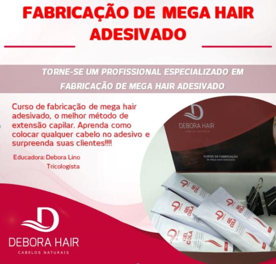 Kit Curso Fabricação de Mega Hair de Fita Adesiva