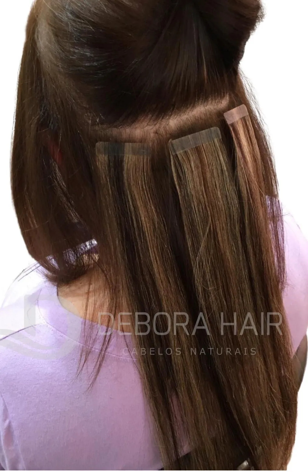 Mega Hair Fita Adesiva 55 cm (SN) N. 1303 20 Peças  - DEBORA HAIR