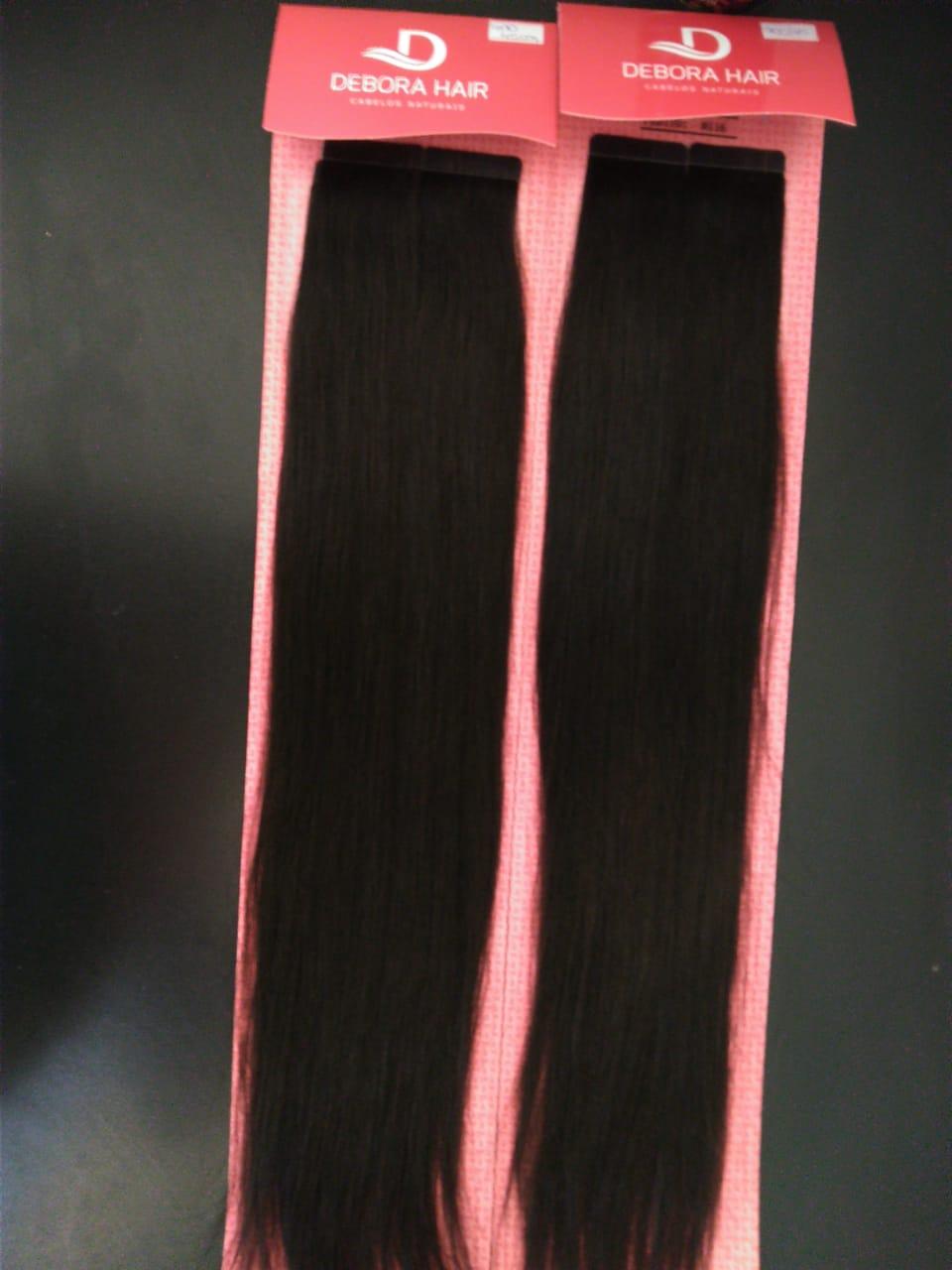 Mega Hair Fita Adesiva Castanho 400 45cm  - DEBORA HAIR