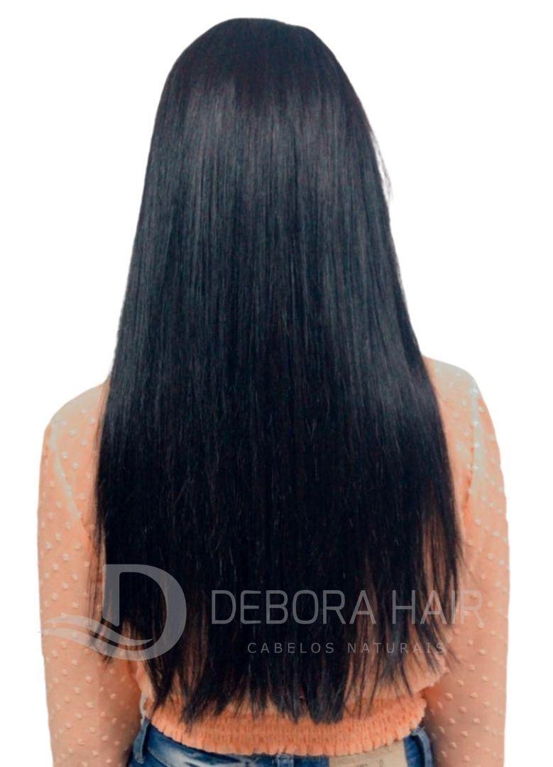 Mega Hair Fita Adesiva Castanho de 70 cm