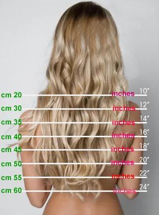 Mega Hair Fita Adesiva Loiro Clarissimo de 50 cm Russo  - DEBORA HAIR