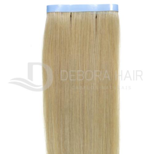 Mega Hair Fita Adesiva Loiro Clarissimo de 50 cm Russo