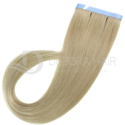Mega Hair Fita Adesiva Loiro de 55 cm N. 411 Russo  - DEBORA HAIR