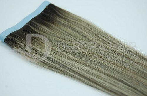 Mega Hair Fita Adesiva Mesclado Com Californianas  e Raiz Esfumada N. 1302 60 cm  - DEBORA HAIR