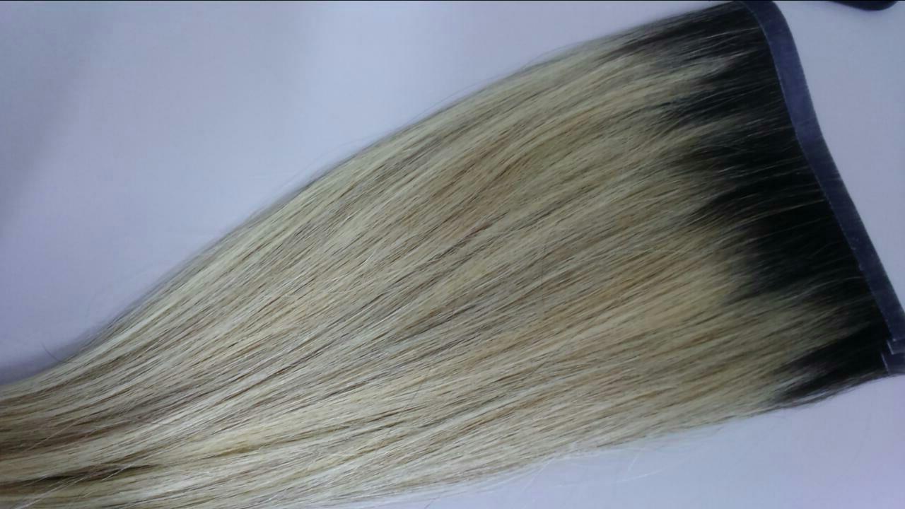 Mega Hair Fita Adesiva Mesclado Com Raiz Esfumada N. 7119A 50 cm  - DEBORA HAIR