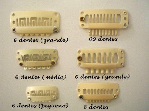 Presilha Tic Tac Amarela (9 dentes)  - DEBORA HAIR