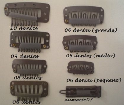 Presilha Tic Tac Marrom (10 dentes)  - DEBORA HAIR
