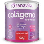 COLÁGENO MORANGO E AÇAÍ 300G - SANAVITA
