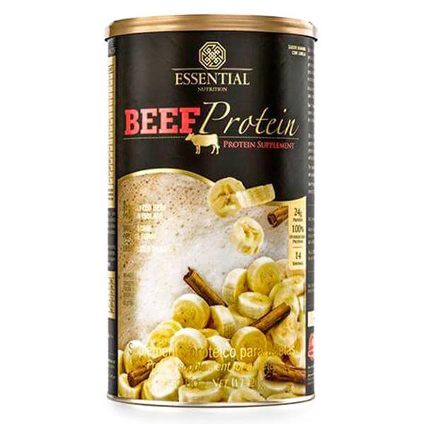 BEEF PROTEIN BANANA COM CANELA 420G - ESSENTIAL NUTRITION