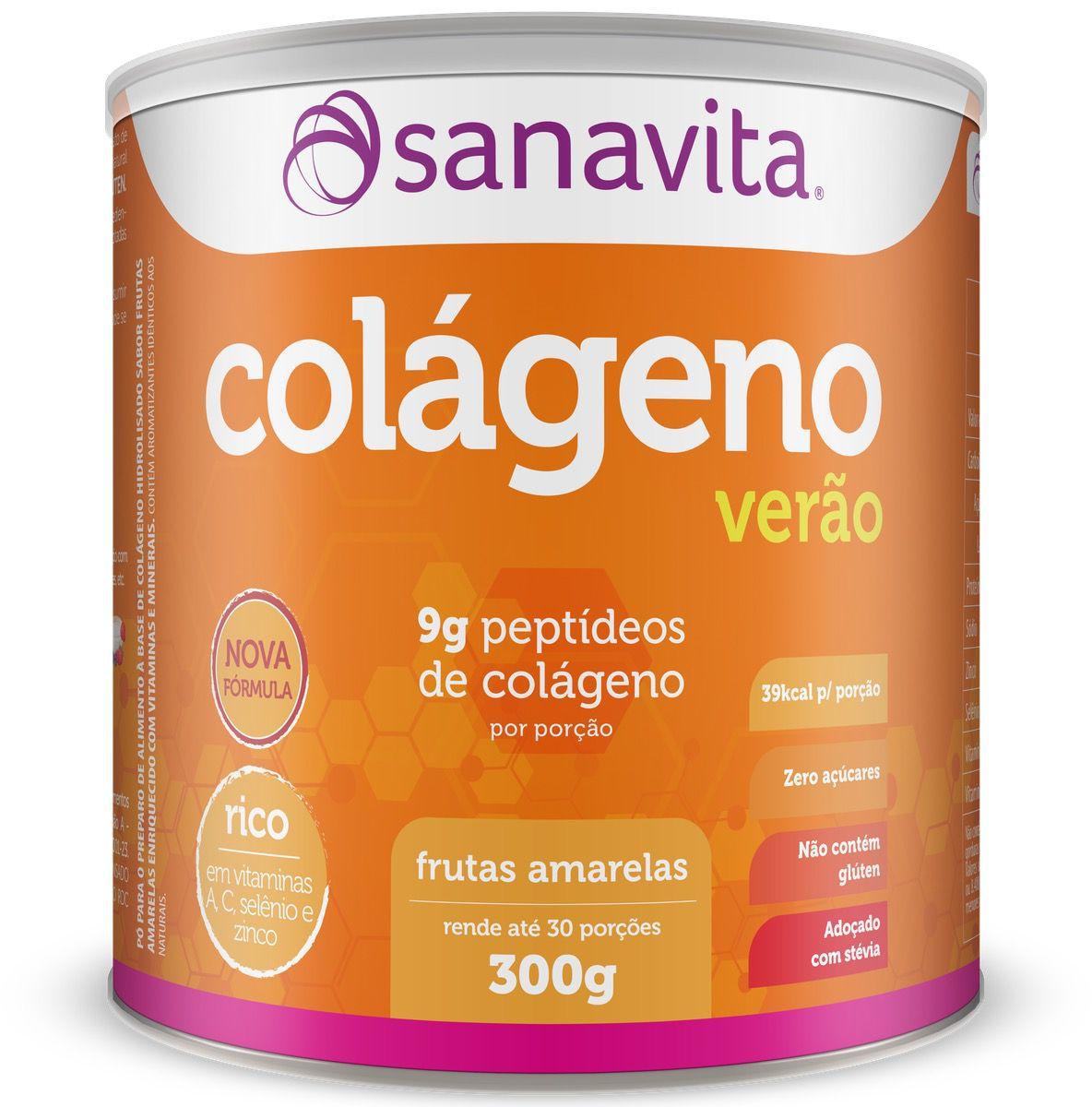 COLÁGENO ESPECIAL VERÃO - FRUTAS AMARELAS 300G - SANAVITA
