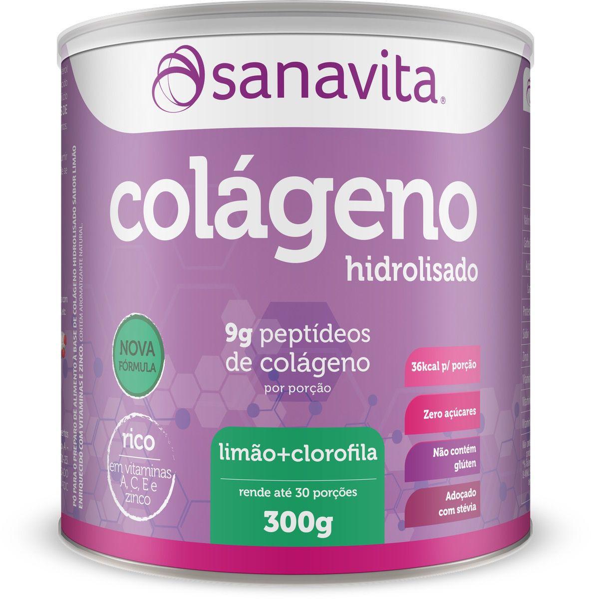 COLÁGENO LIMÃO E CLOROFILA 300G - SANAVITA