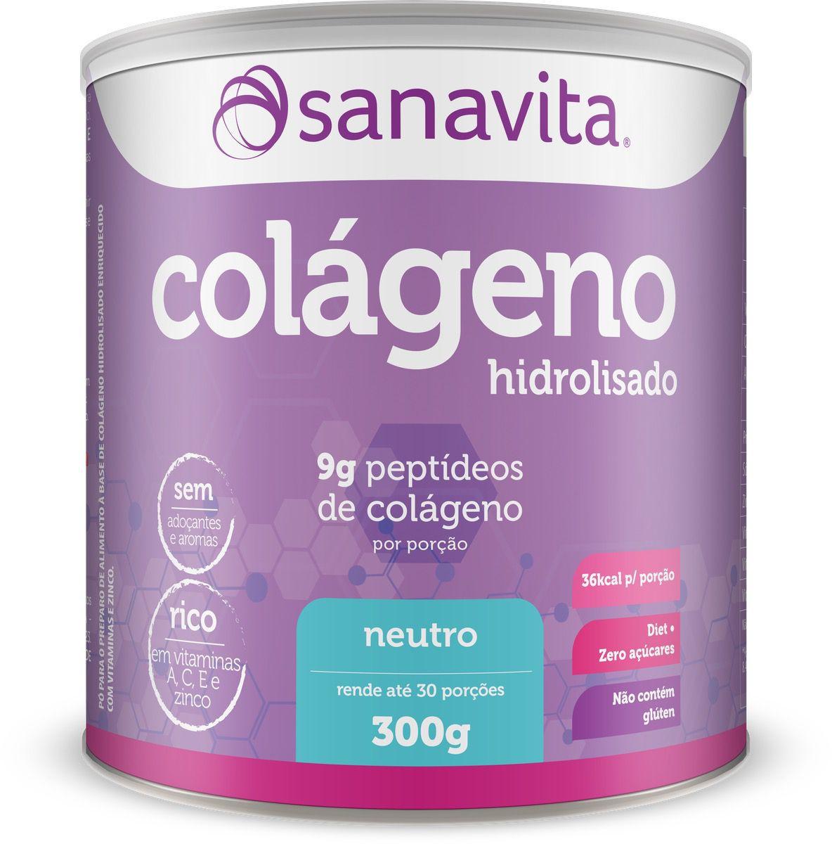 COLÁGENO SABOR NEUTRO 300G - SANAVITA
