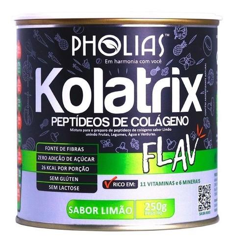 KOLATRIX FLAV (PEPTÍDEOS DE COLÁGENO) LIMÃO 250G - PHOLIAS