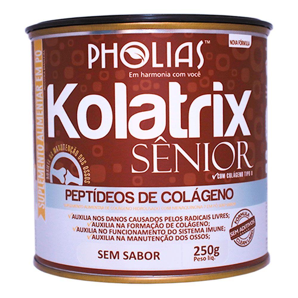 KOLATRIX SENIOR (PEPTÍDEOS DE COLÁGENO) SEM SABOR 250G - PHOLIAS