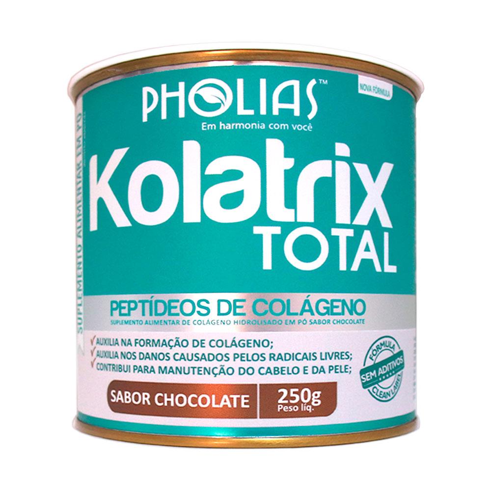 KOLATRIX TOTAL (PEPTÍDEOS BIOATIVOS DE COLÁGENO) CHOCOLATE 250G - PHOLIAS (Val: 22/07/2021)