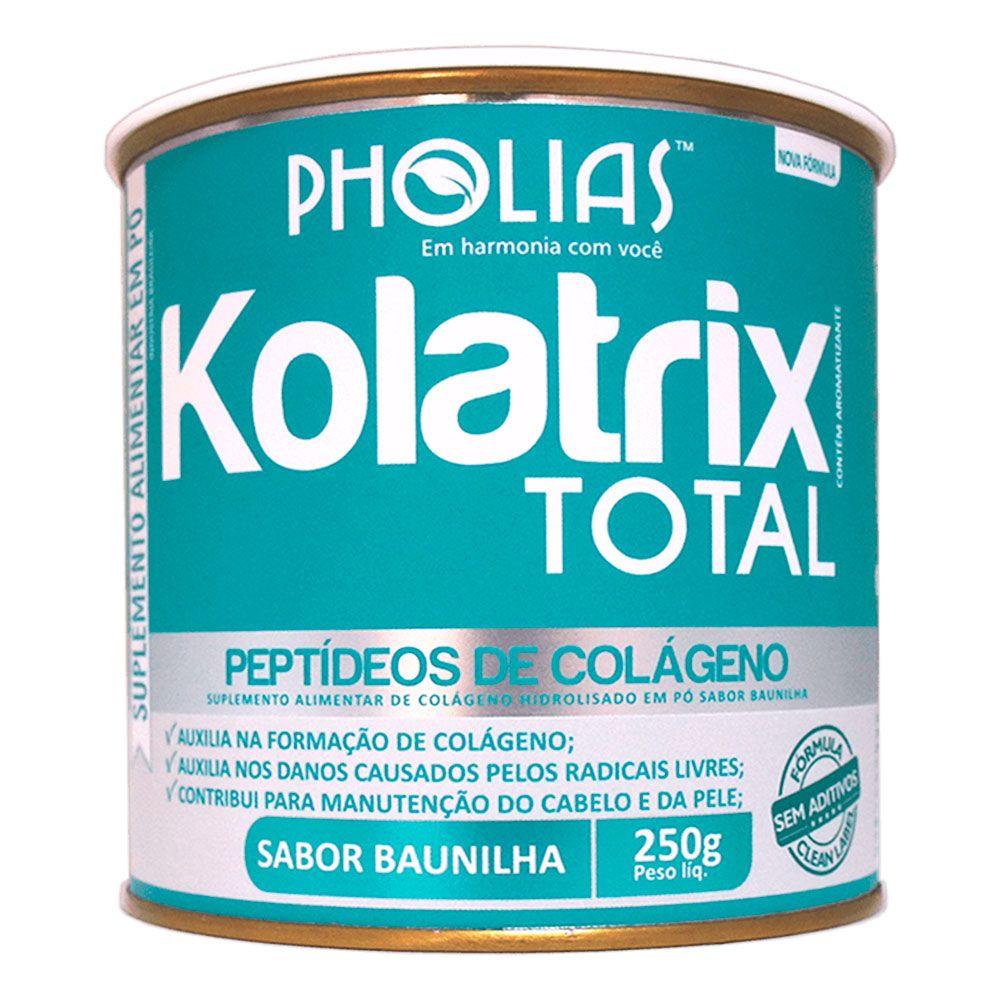 KOLATRIX TOTAL (PEPTÍDEOS BIOATIVOS DE COLÁGENO) SABOR BAUNILHA 250G - PHOLIAS