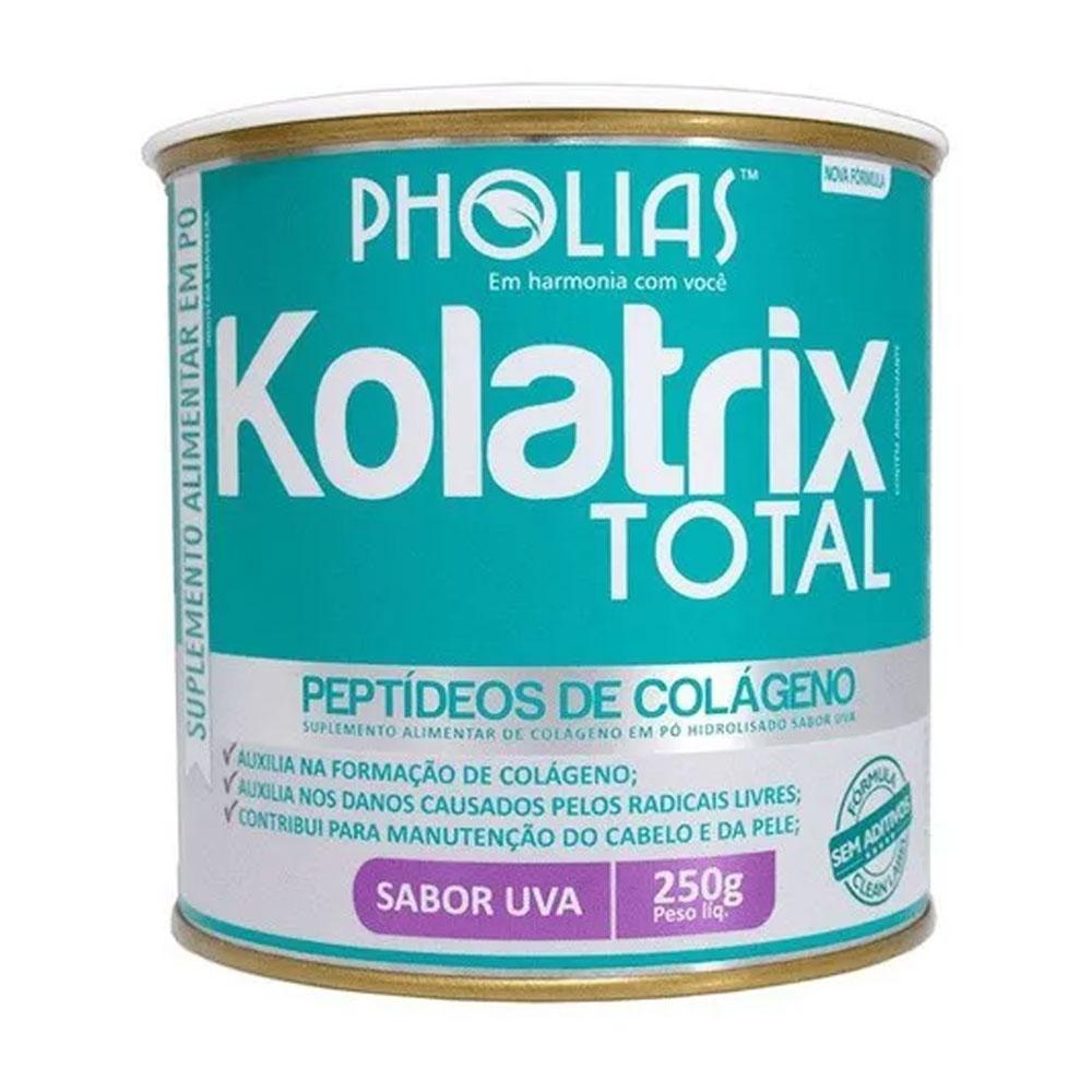 KOLATRIX TOTAL (PEPTÍDEOS BIOATIVOS DE COLÁGENO) UVA 250G - PHOLIAS - MÊS DOS NAMORADOS