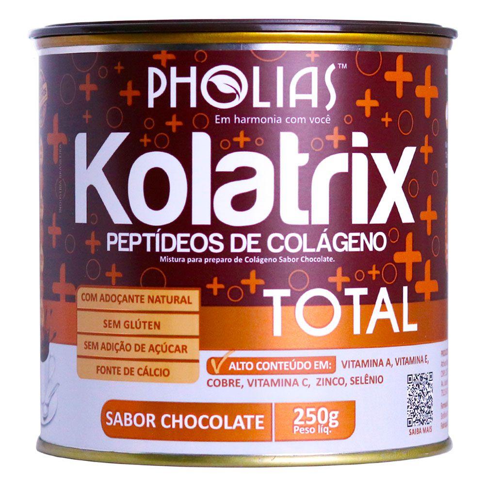 KOLATRIX TOTAL (PEPTÍDEOS BIOATIVOS DE COLÁGENO) CHOCOLATE 250G - PHOLIAS