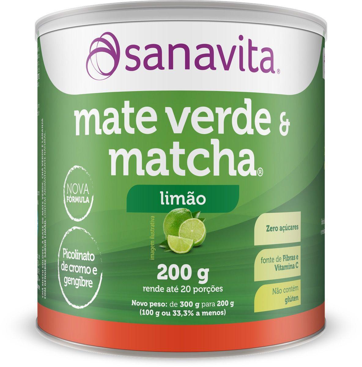 MATE VERDE E MATCHA LIMÃO 200G - SANAVITA