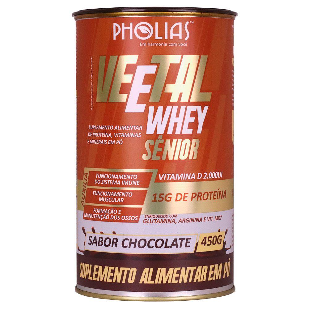 VEETALWHEY SÊNIOR SABOR CHOCOLATE 450G - PHOLIAS