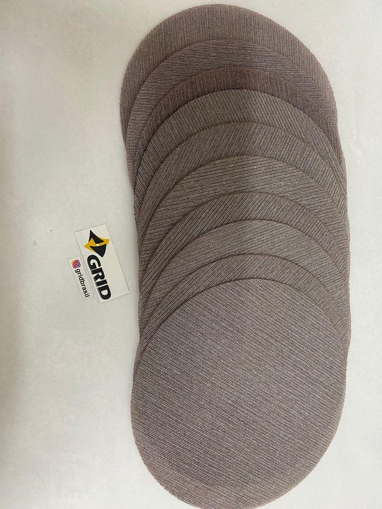 """10 Discos De Lixas em Tela P/ Lixadeiras 225mm/9"""" com velcro"""
