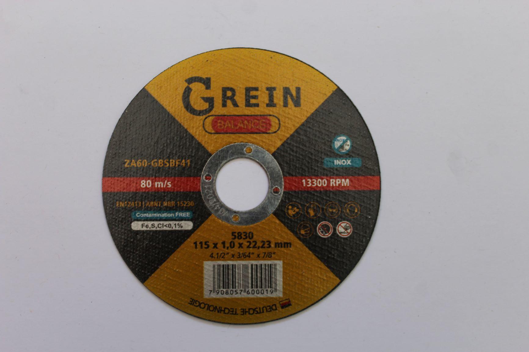 Disco de Corte Balance - Grein 115 x 3 x 22,23mm