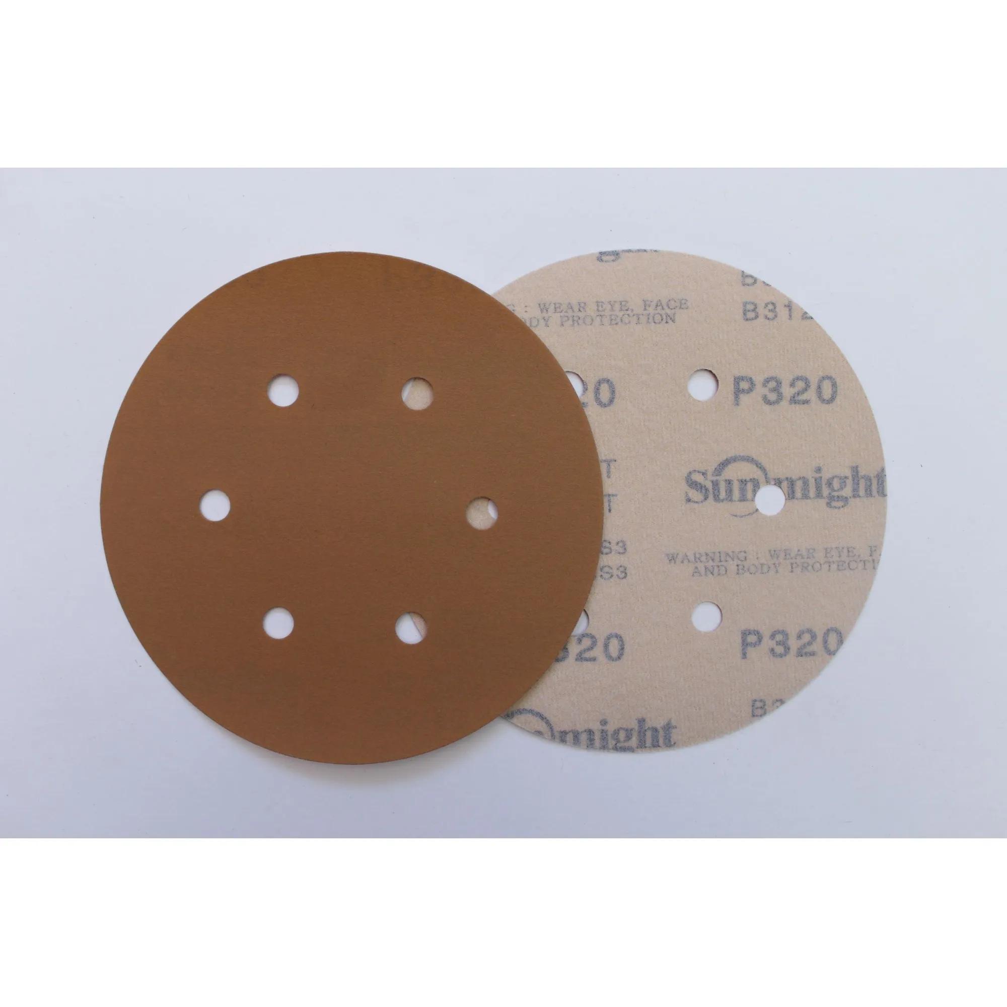 """Disco de Lixa Gold 150mm/6"""" - 10 unidades"""