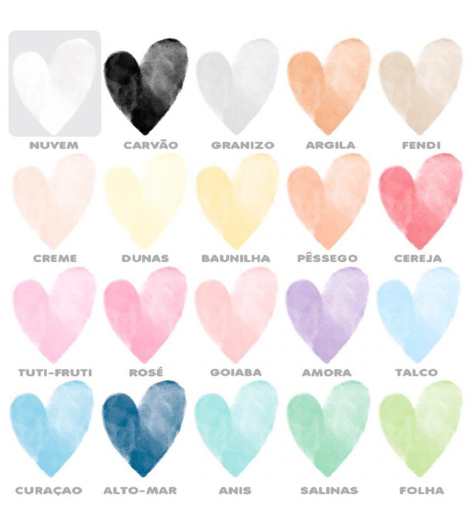 Adesivo Corações Aquarela Teté