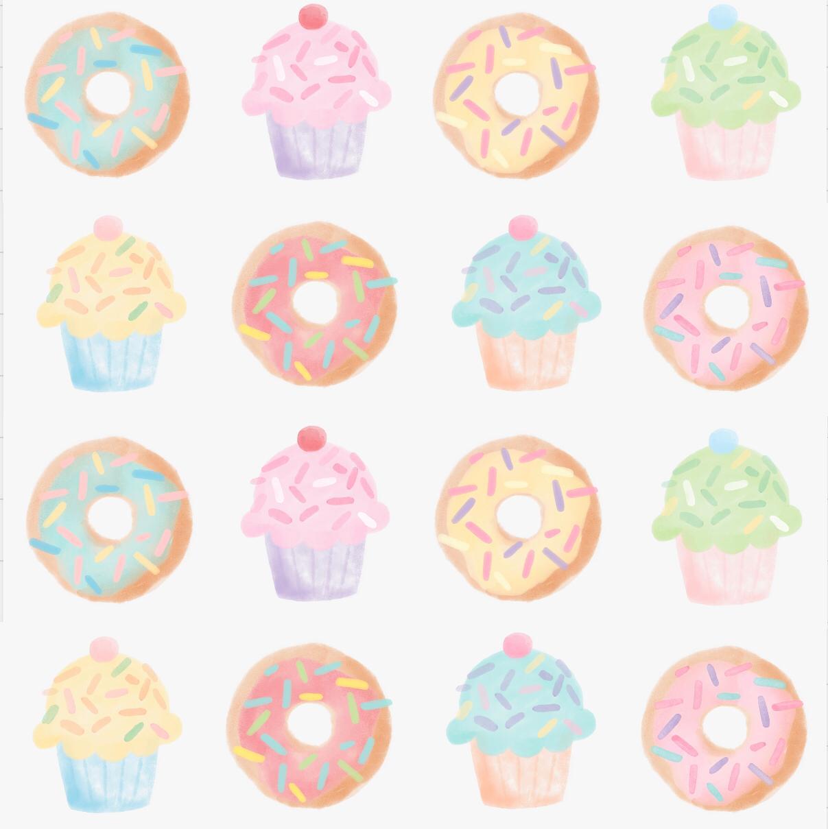 Adesivo Donuts e Cupcake Mamá