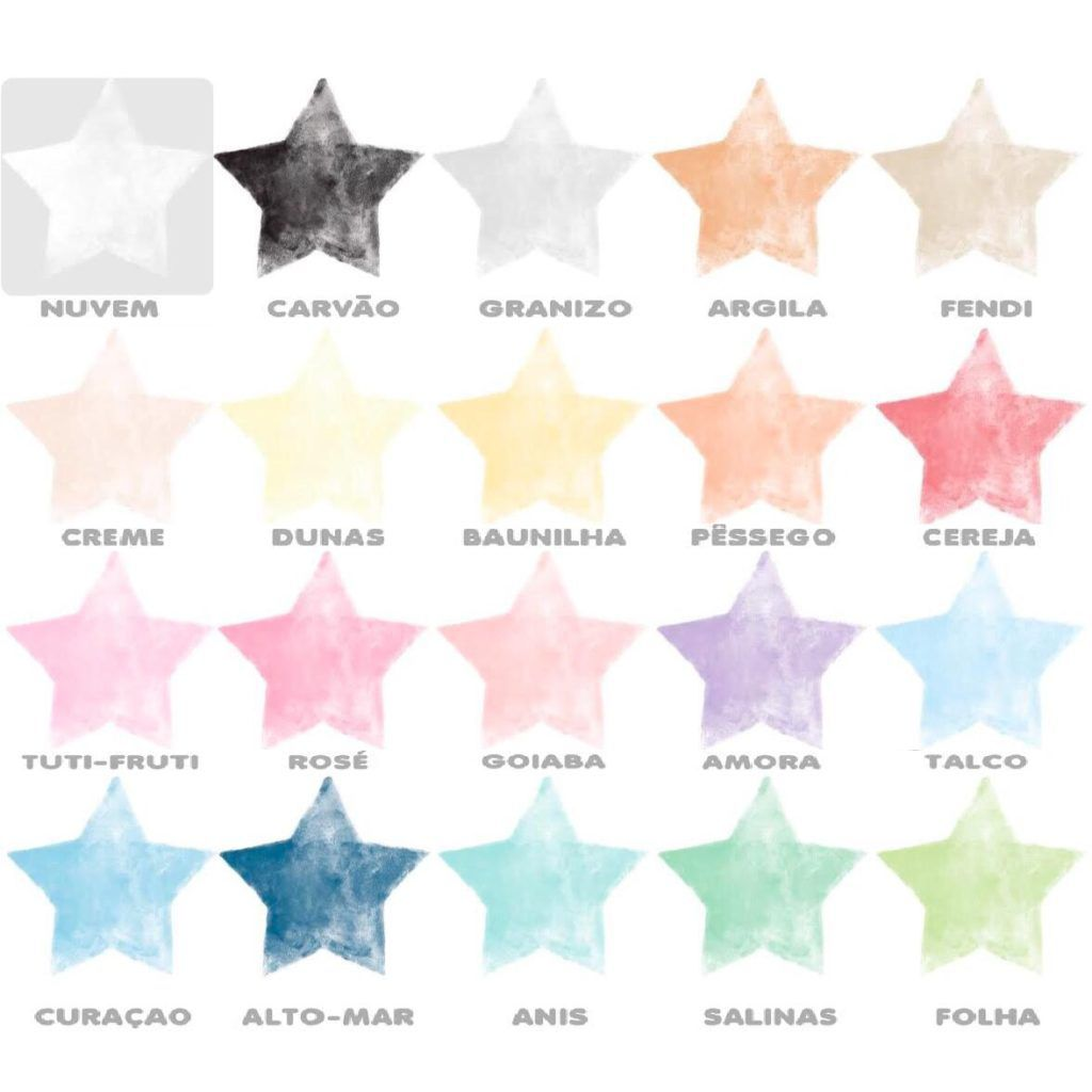 Adesivo Estrelas Aquarela Rita