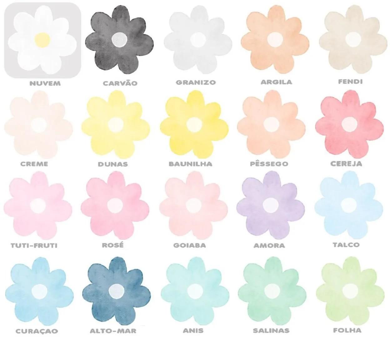 Adesivo Flores Aquarela Maria