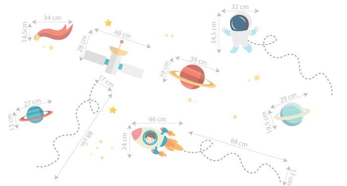 Adesivo Galáxia Tim