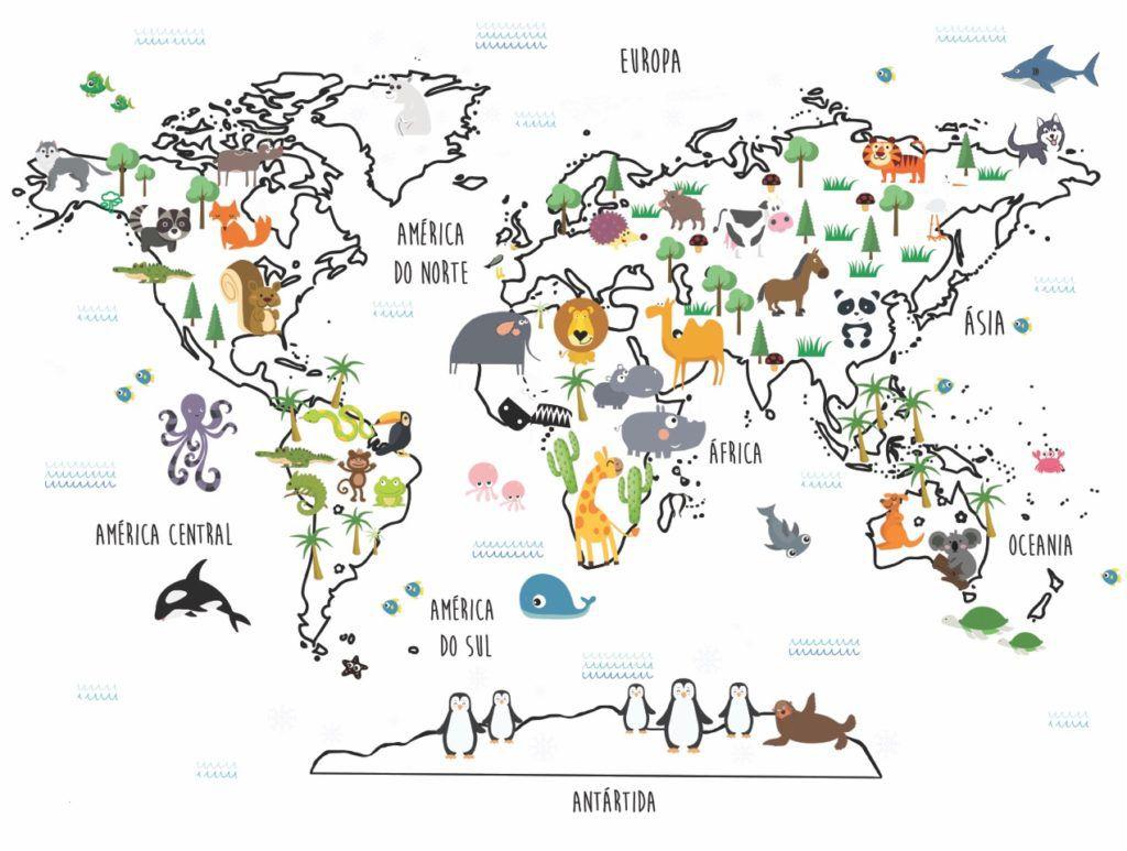 Adesivo Mapa Mundi Dodô  - Ideias de Mamãe