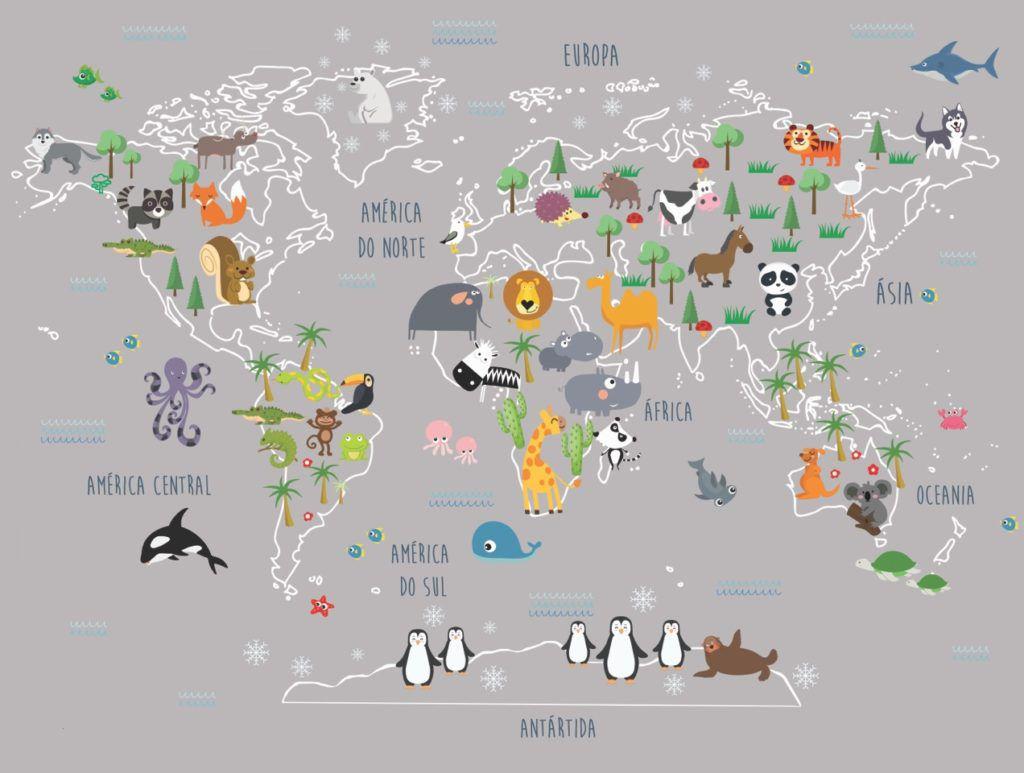Adesivo Mapa Mundi Dodô