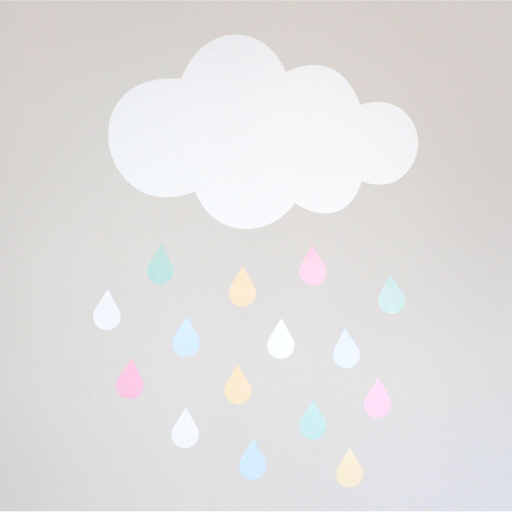 Adesivo Nuvem + Gotinhas Lola  - Ideias de Mamãe