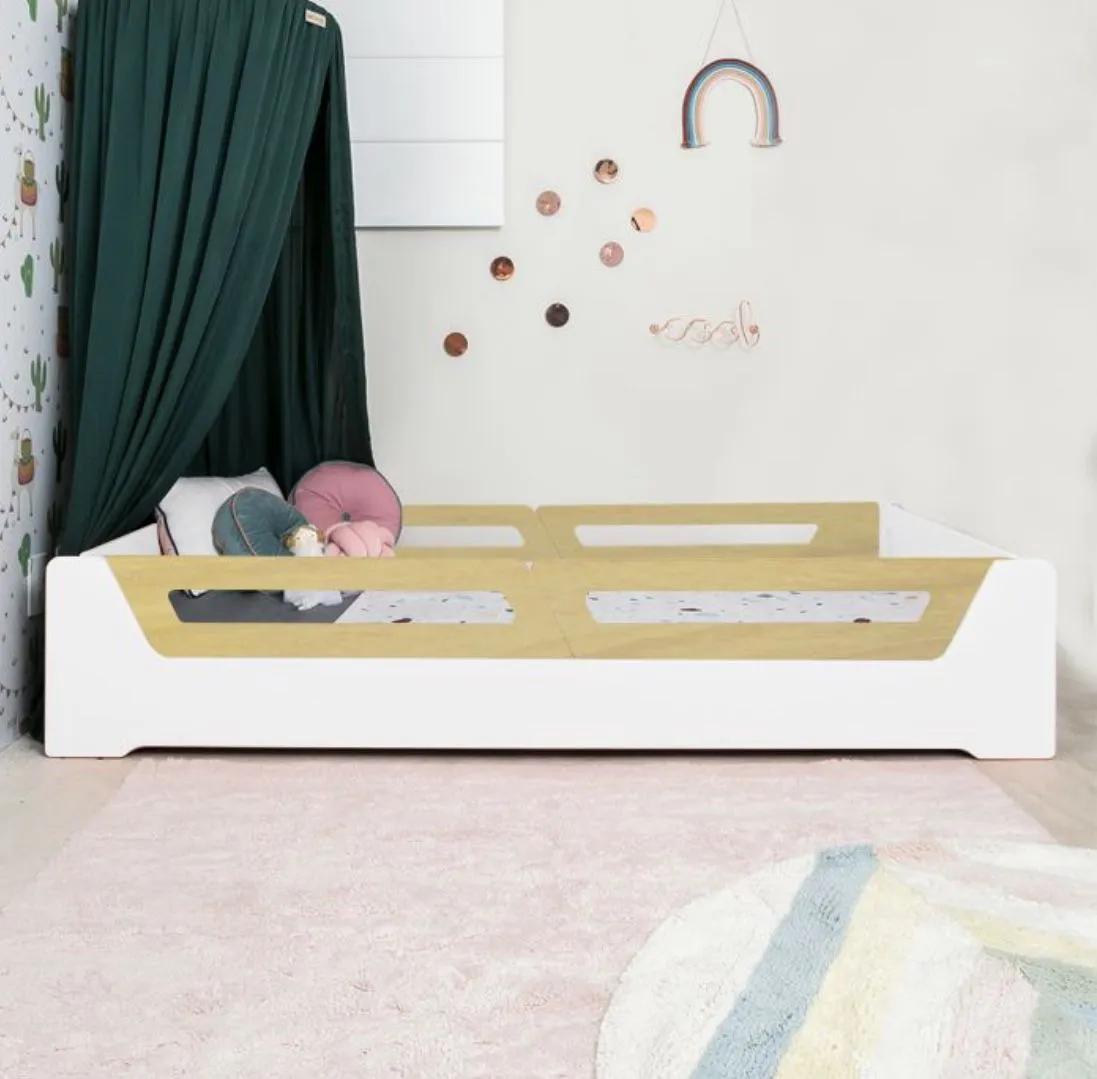 Cama Anis Grades Madeira (solteiro e mini cama)  - Ideias de Mamãe