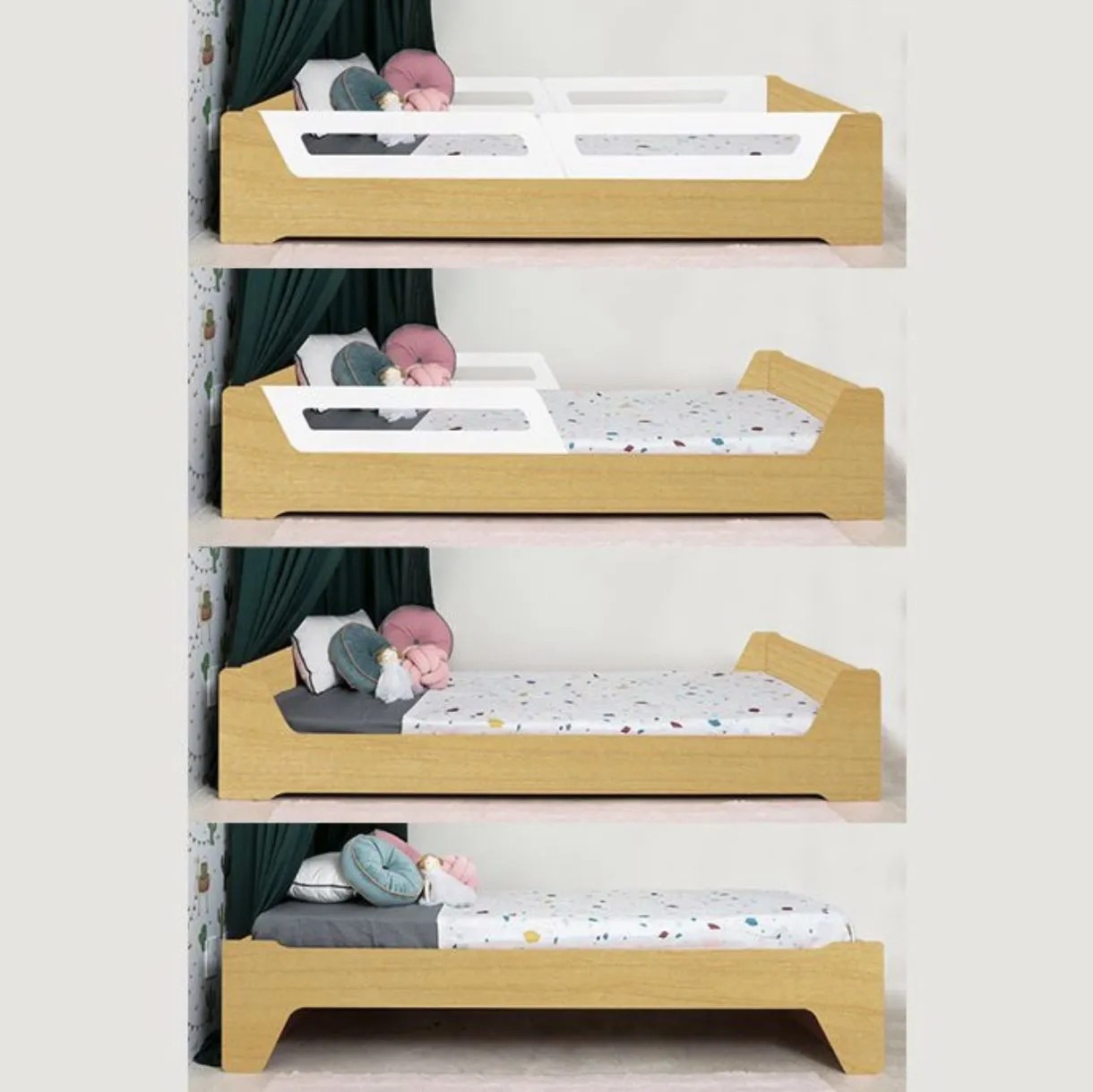 Cama Anis Estrutura Madeira (solteiro e mini cama)
